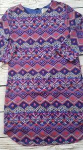 Everly Bright & Bold Geometric Print Sleeved Dress